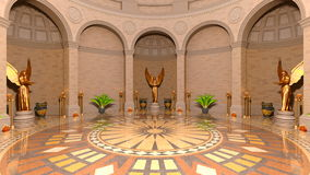 Entrance hall. 3D CG rendering of entrance hall Royalty Free Stock Images