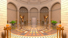 Entrance hall. 3D CG rendering of entrance hall Royalty Free Stock Photo