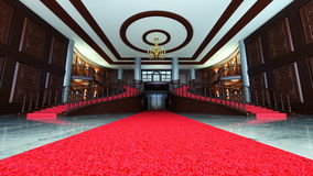 Entrance hall. 3D CG rendering of entrance hall Stock Photos