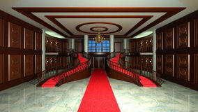 Entrance hall. 3D CG rendering of entrance hall Stock Photography