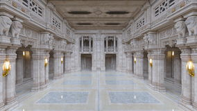 Entrance hall. 3D CG rendering of a entrance hall Royalty Free Illustration