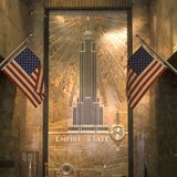 Entrance hall of empire state building. Nyc, usa Royalty Free Stock Photography
