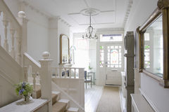 Entrance Hall Of House. Front door with entrance hall of house Stock Photography