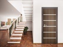 Entrance hall interior 3d render Stock Images