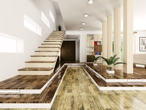 Entrance hall interior 3d render Stock Photography