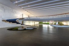 Entrance Hall of Itamaraty Palace interior - Brasilia, Distrito Federal, Brazil. Brasilia, Brasil - Aug 29 2018: Entrance Hall of Itamaraty Palace interior royalty free stock photos