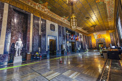 Entrance hall in in Louisiana State. Baton Rouge, USA - July 13: entrance hall in Louisiana State Capitol on July 13,2013 in Baton Rouge, USA. The New State Royalty Free Stock Images