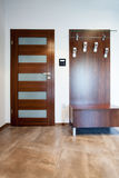 Entrance hall. Luxury entrance hall with wooden floor Stock Photo