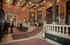 Entrance hall of the Pera Palas Hotel in Istanbul royalty free stock photo