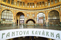 Entrance hall of the Prague main train station Royalty Free Stock Images