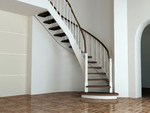 Entrance hall. Staircase in luxury interior, entrance hall Stock Photography