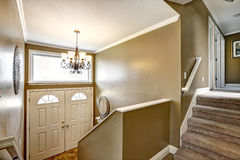 Entrance hallway with staircase Stock Image