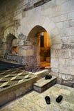 Entrance of hammam (turkish bath) in Syria stock photo