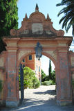 Entrance of Hanbury Villa. Villa Hanbury in the Botanical Gardens Hanbury near Ventimiglia, Liguria in Italy Royalty Free Stock Photos