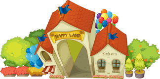 Entrance of Happy Land Building Royalty Free Stock Photo