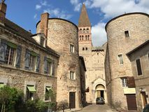 Entrance of the hearth of medieval city of Tournus. Between Mâconnais and Châlonnais, South Burgundy Royalty Free Stock Photography