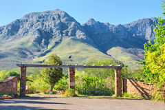 Entrance into the Helderberg Mountains Nature Reserve Royalty Free Stock Photos
