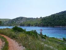 The entrance of the hidden bay of Lastovo Stock Photos