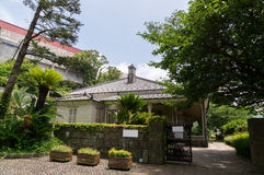Entrance of Higashi-Yamate 12 Bankan in Nagasaki,. Higashi-Yamate is the first former foreign settlement area in Nagasaki Stock Photography