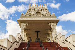 Entrance of Hindu temple near Chicago, Illinois Royalty Free Stock Images
