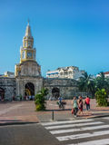 Entrance of Historic Center of Cartagena Colombia Stock Images