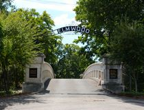 Entrance of the historic Elmwood Cemetery Stock Photo