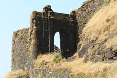 Entrance of a historical fort stock image