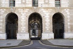 Entrance of HM Treasury. the Treasury, London, England, UK Royalty Free Stock Image