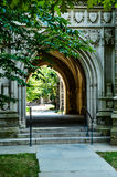 Entrance of Holder Hall - Princeton University. Holder Hall was given in 1909 by Margaret Olivia Sage, widow of the financier, Russell Sage, and named at her Royalty Free Stock Images