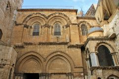 Entrance of Holy Sepulchre church Royalty Free Stock Photography