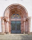 Entrance of Holy Trinity church (1908) in Offenburg, Germany Stock Photography