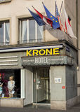 Entrance of the Hotel Krone in Zurich Royalty Free Stock Photography