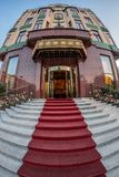 Entrance at the Hotel Moscow in Belgrade,Serbia Royalty Free Stock Image