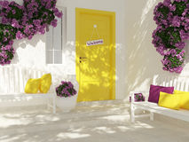 Entrance of a house. Royalty Free Stock Photo