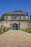 Entrance house of the hilltop castle in Bad Bentheim. Germany Stock Photos