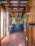 Entrance in a huge spanish villa royalty free stock image