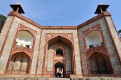 The entrance of Humayun Tomb, New Delhi, India Royalty Free Stock Photo