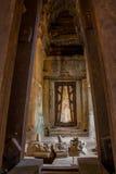 Entrance i Angkor Wat Arkivfoto