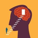 Entrance of idea in human head Stock Photos