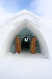 Entrance Igloo. Entrance Igloo with blue sky. Quebec Canada Royalty Free Stock Image