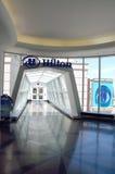 Entrance of indoor glass walkway Stock Image
