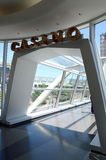 Entrance of indoor glass walkway Royalty Free Stock Image