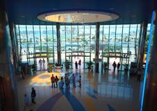 Entrance inside shopping center Marina mall Stock Photography