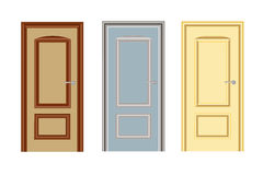 Entrance and interior doors Royalty Free Stock Images