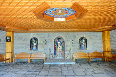 The entrance interior in Varlaam monastery Stock Photography