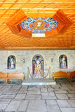 The entrance interior in Varlaam monastery Stock Photos