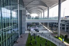 Entrance  International Airport in Istanbul stock photos