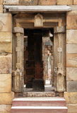 Entrance with intricate design in the complex of Qutub Minar Stock Images