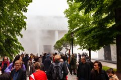 Entrance of Italian Pavilion at the 58th International Art exhibition of Venice biennale stock images