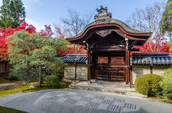 Entrance of Japan temple Stock Photo